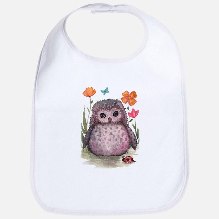 Purple Portly Owlet Bib