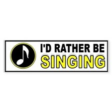 SING TO ME Bumper Stickers