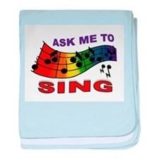 SING TO ME baby blanket