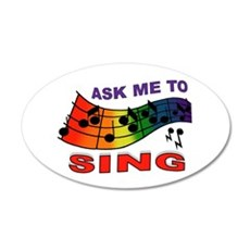 SING TO ME 38.5 x 24.5 Oval Wall Peel