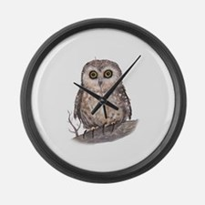 Wide Eyed Owl Large Wall Clock