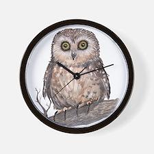 Wide Eyed Owl Wall Clock