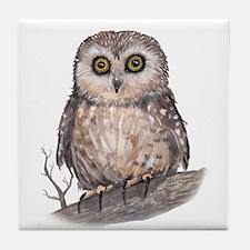 Wide Eyed Owl Tile Coaster