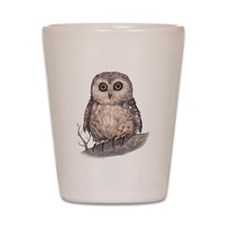 Wide Eyed Owl Shot Glass