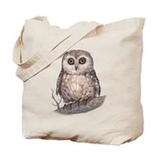 Wide Eyed Owl Tote Bag