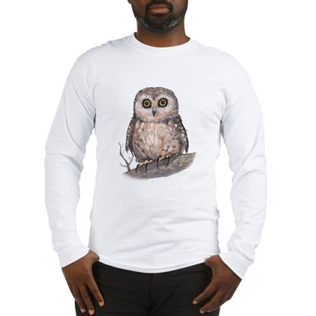 Wide Eyed Owl Long Sleeve T-Shirt