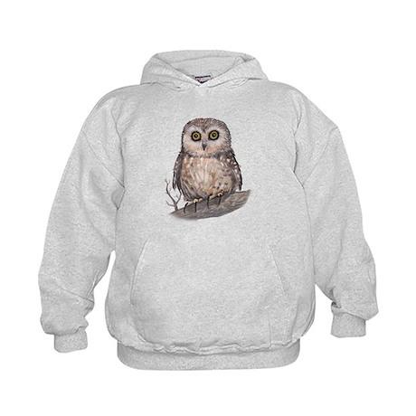 Wide Eyed Owl Kids Hoodie