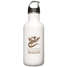 I'd Rathereth Be Slaying Drag Water Bottle