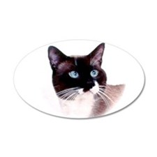 Snowshoe Cat 22X14 Oval 20X12 Oval Wall Decal