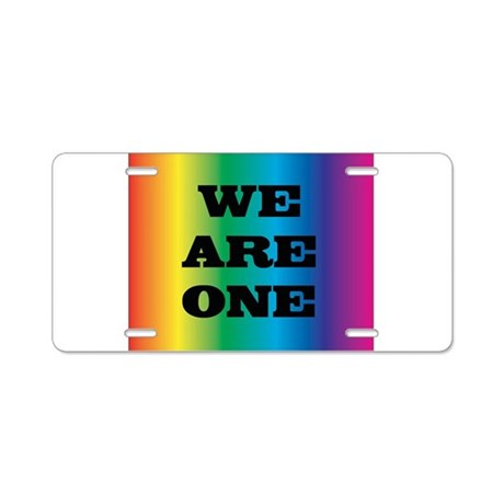 WE ARE ONE XXV™: Aluminum License Plate