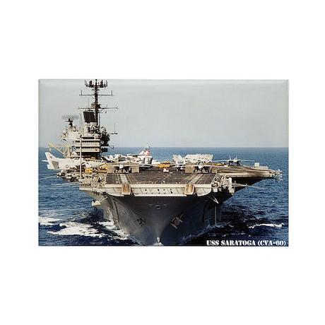 USS SARATOGA Rectangle Magnet