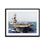 USS SARATOGA Framed Panel Print