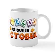 Amelia is Due in October Mug