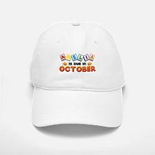 Amelia is Due in October Baseball Baseball Cap