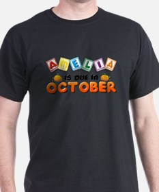 Amelia is Due in October T-Shirt