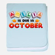 Amelia is Due in October baby blanket