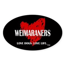 Love Weimaraners Decal