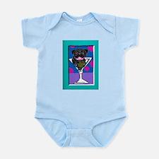 Black Pug Martini II Infant Creeper