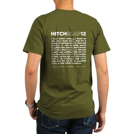 Christopher Hitchens Hitchslap 12 Blue T-Shirt