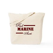 Proud Marine Aunt Tote Bag