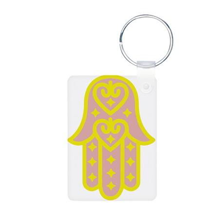 Hand of Fatima Aluminum Photo Keychain