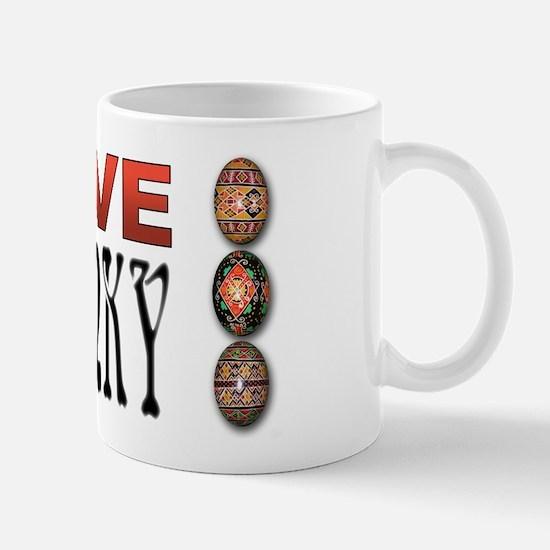 I love Pysanky 2 Mug