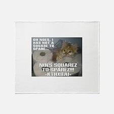Kitteh Lulz Throw Blanket