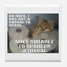 Kitteh Lulz Tile Coaster