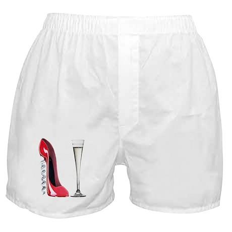 Red Corkscrew Stiletto Shoe a Boxer Shorts
