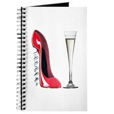 Red Corkscrew Stiletto Shoe a Journal