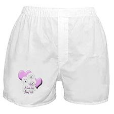 Bichon Hearts Boxer Shorts