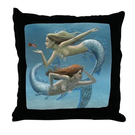 Siren Sisters Throw Pillow