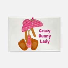 Customizable: Bunny Lady Rectangle Magnet