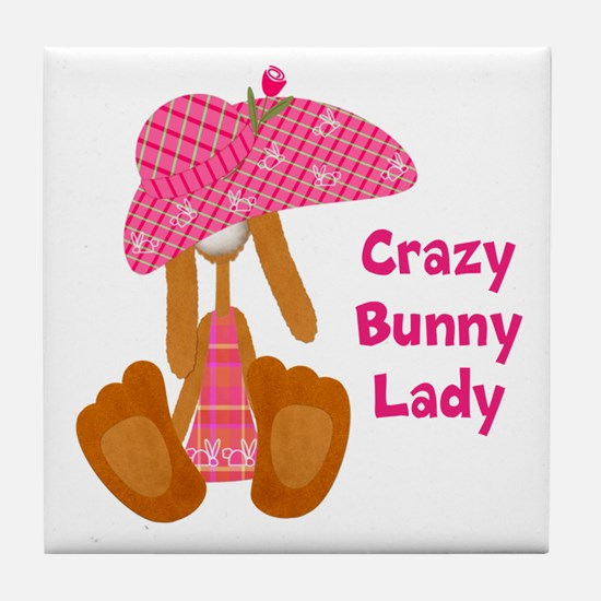 Customizable: Bunny Lady Tile Coaster