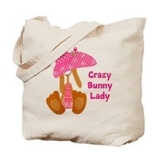 Customizable: Bunny Lady Tote Bag