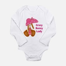 Customizable: Bunny Lady Long Sleeve Infant Bodysu