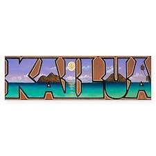 Kailua Lanikai Beach Bumper Stickers