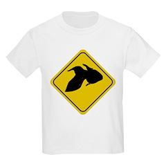 Goldfish Crossing Sign Kids T-Shirt