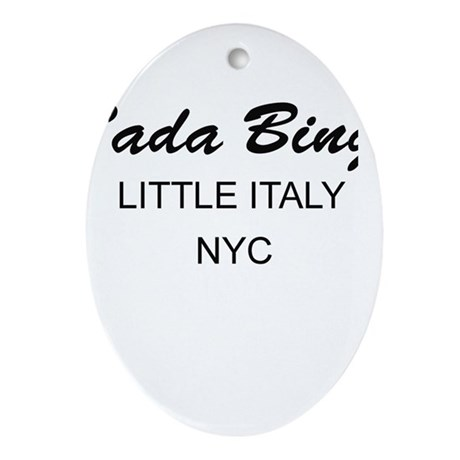 Bada Bing! Oval Ornament