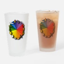 Seasonal Color Wheel Drinking Glass