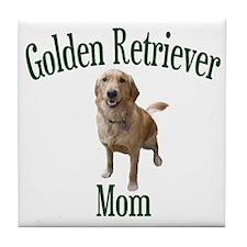Golden Retriever Mom Tile Coaster