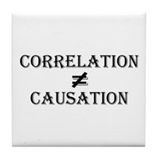 Correlation Causation Tile Coaster