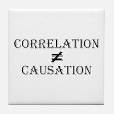 Correlation Causation Tile Coaster