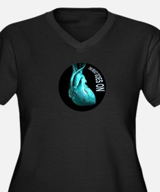 the beat goes on Women's Plus Size V-Neck Dark T-S