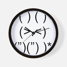 Angry Bunny Black Wall Clock