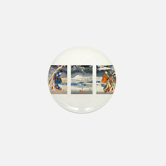 Viewing the Snow Triptich Mini Button