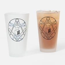 Vitruvian Square and Compasse Drinking Glass