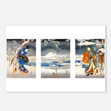 Viewing the Snow Triptich Postcards (Package of 8)