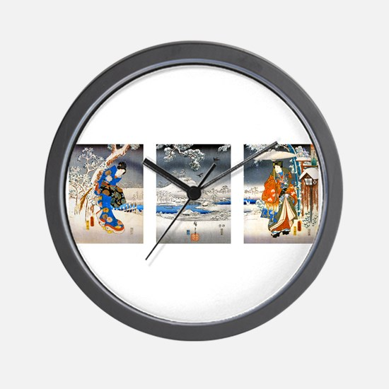 Viewing the Snow Triptich Wall Clock