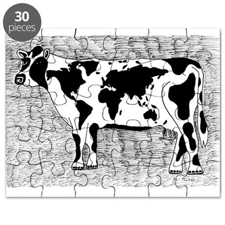 Cow Map Puzzle